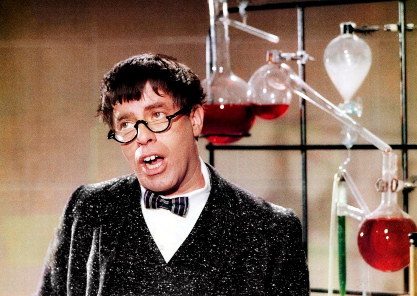 Vintage actor Jerry Lewis as The Nutty Professor (1960s movie)
