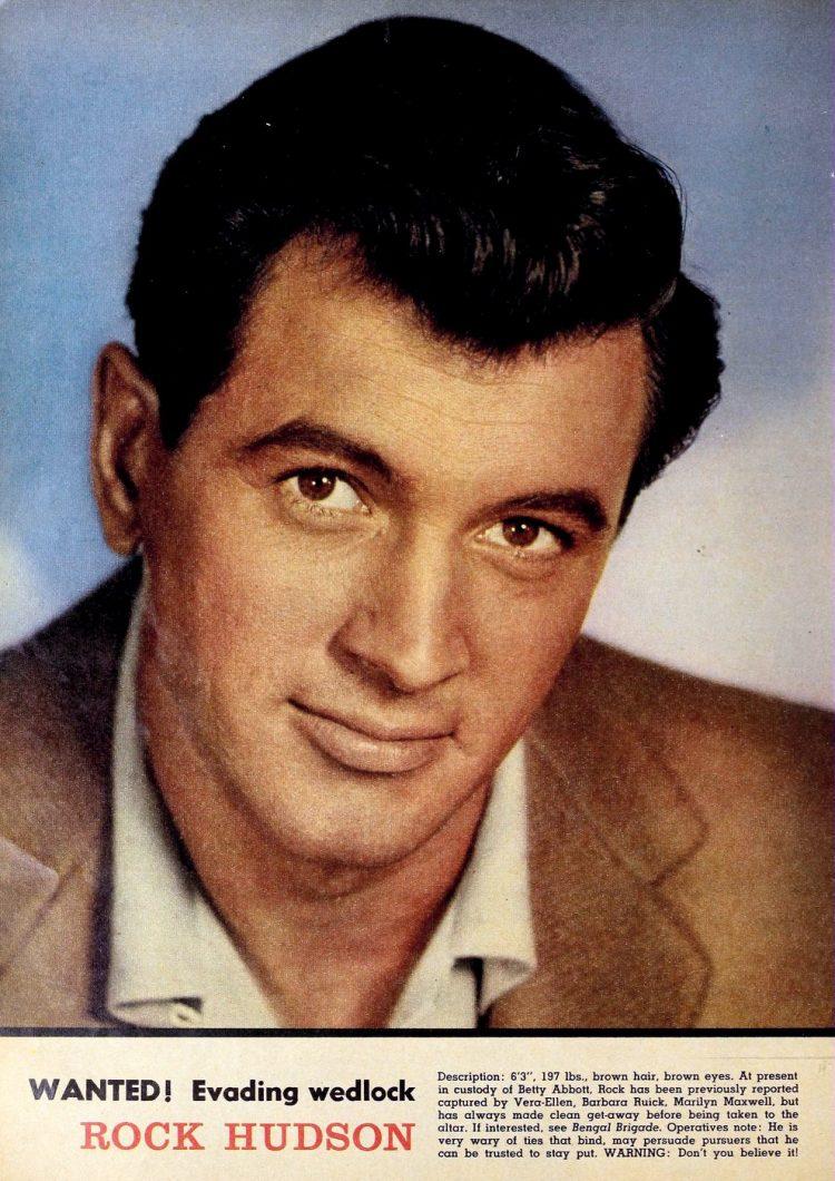 Vintage actor Rock Hudson - 1950s 1960s (1)