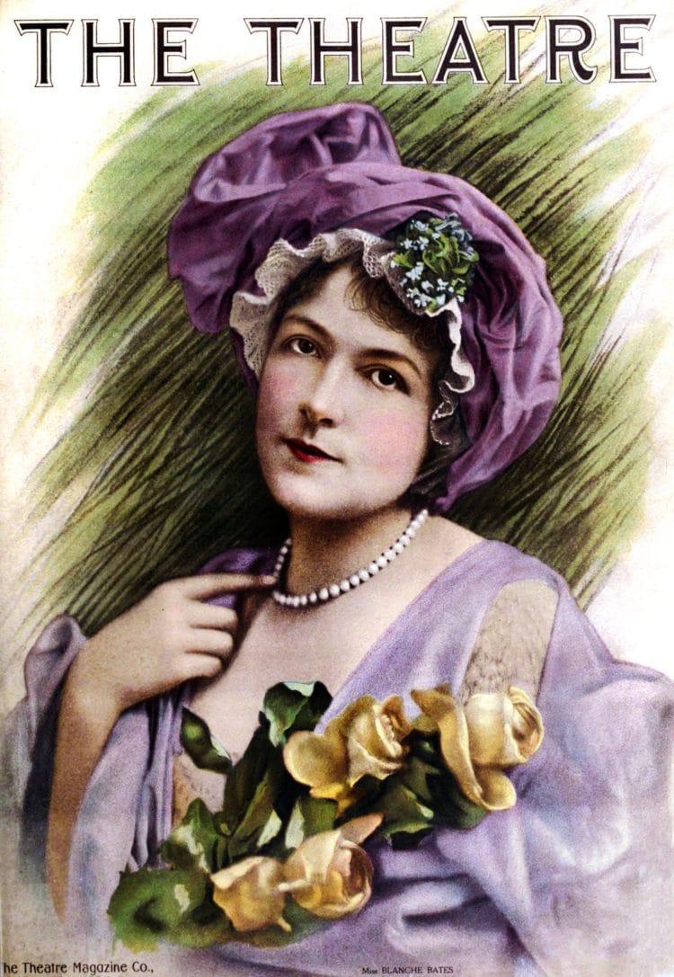 Vintage actress Blanche Bates 1911 - Theatre magazine