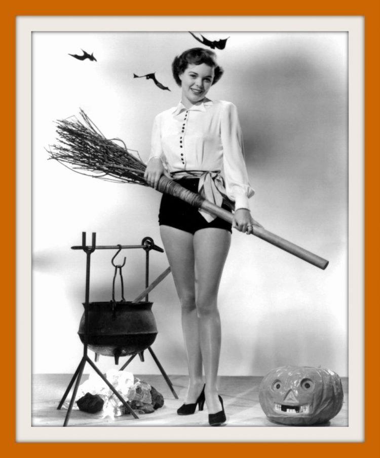 Vintage actress Halloween Pinup girl Nancy Gates