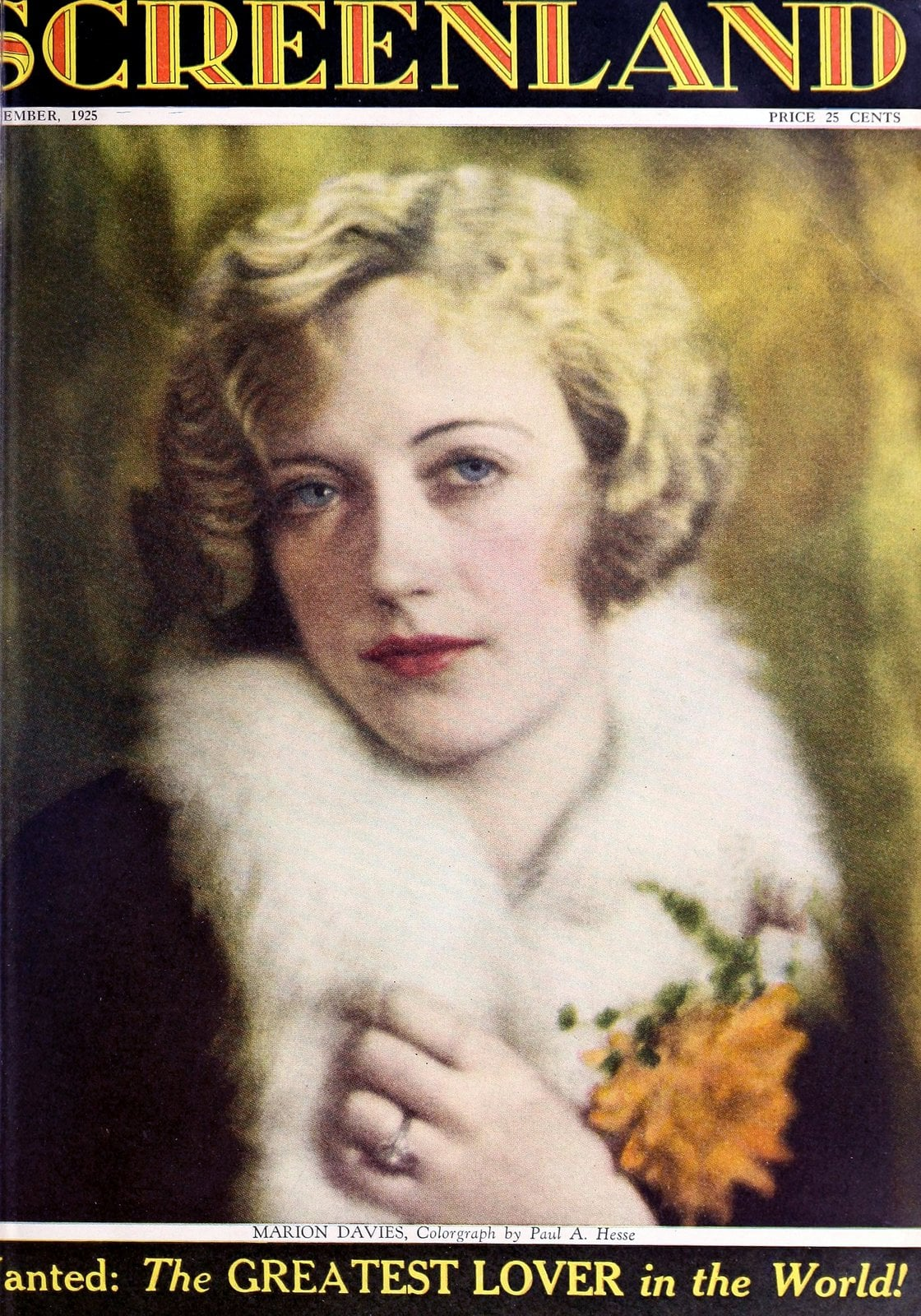 Vintage actress Marion Davies (1925)