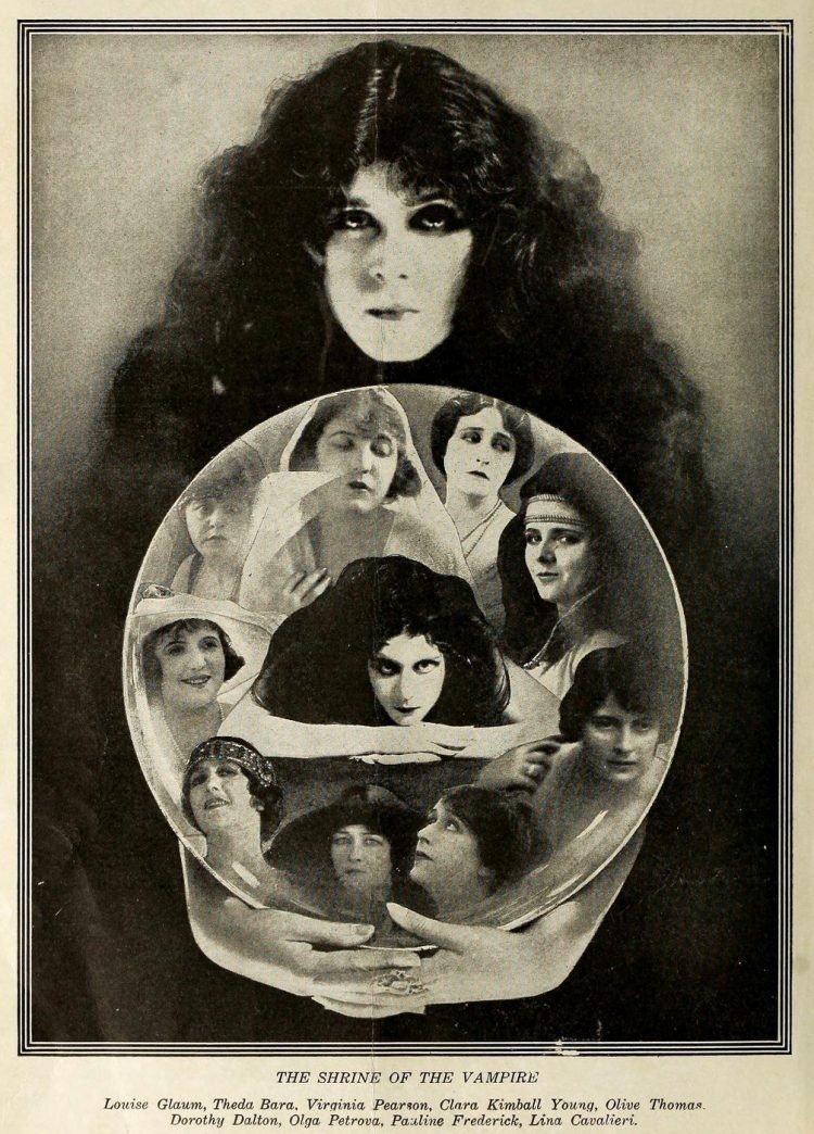 Vintage actresses - Shrine of the Vampire 1919