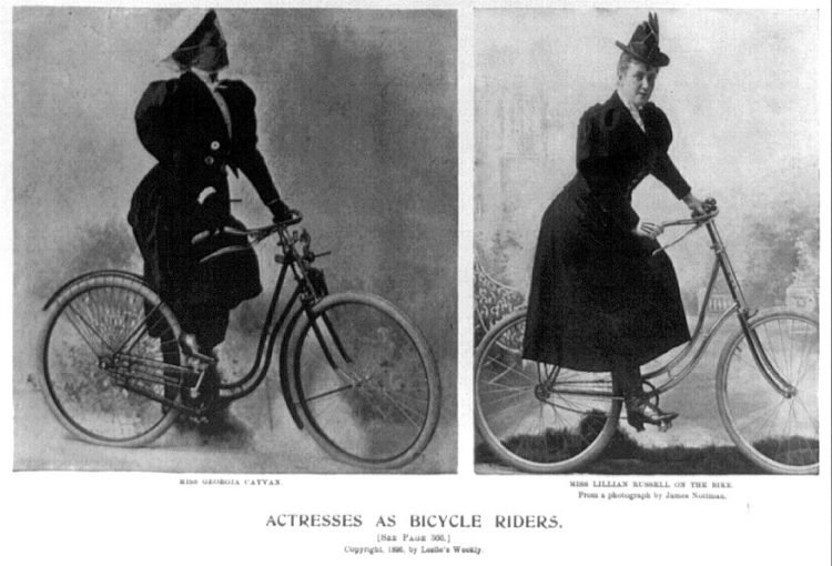 Vintage actresses with bicycles from 1896 (1)