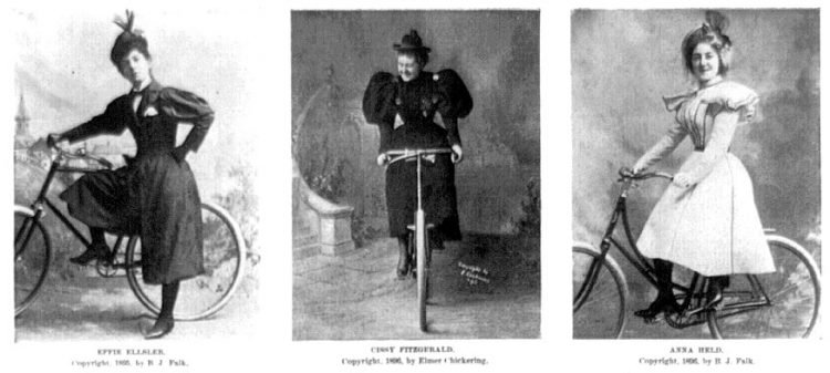 Vintage actresses with bicycles from 1896 (2)