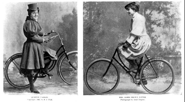 Vintage actresses with bicycles from 1896 (3)