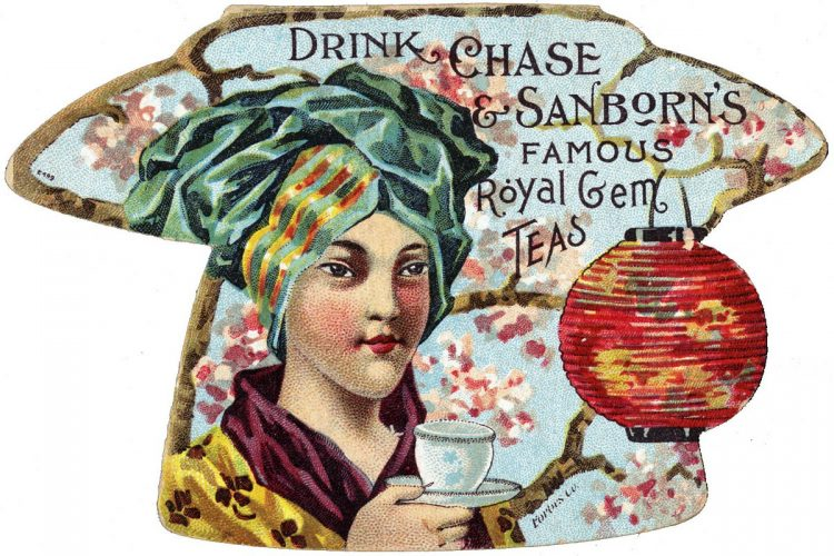 Vintage ad for Chase Sandborn tea