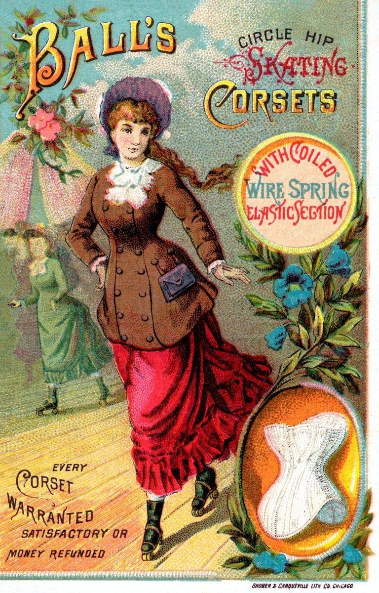 Vintage ad skating corsets