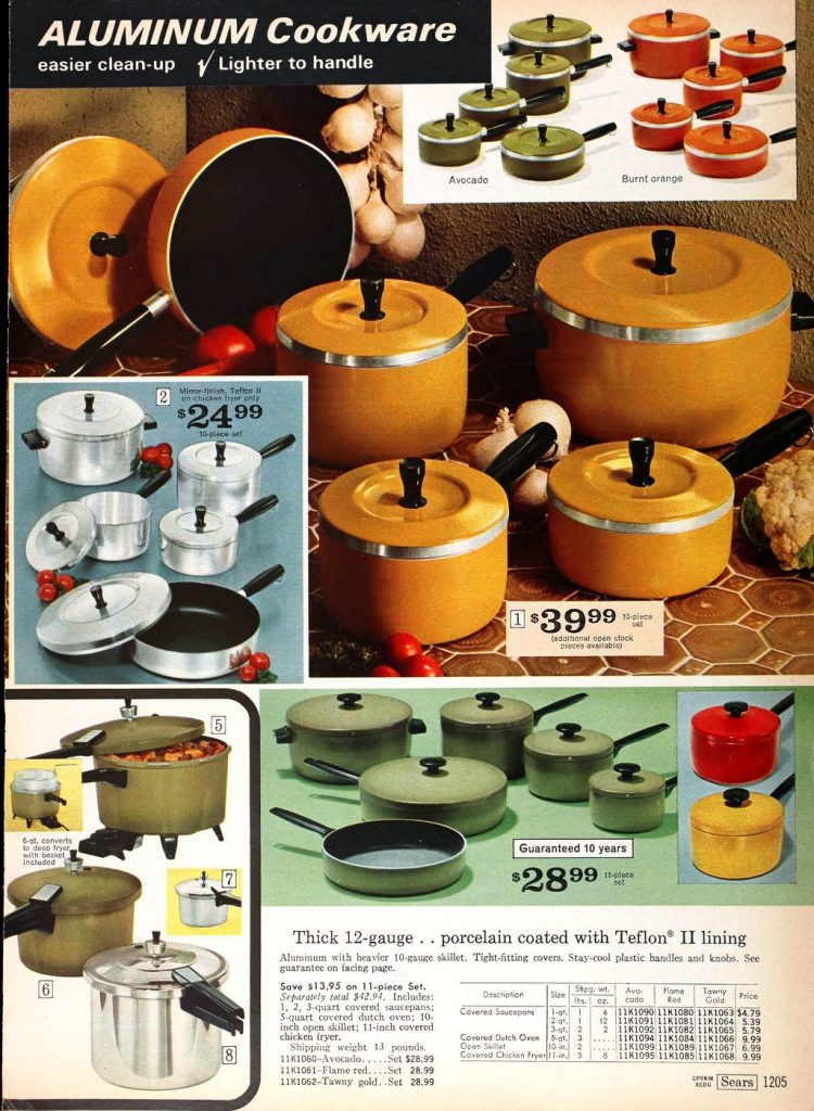 Vintage aluminum cookware - pots and pans from the 1970s (1)
