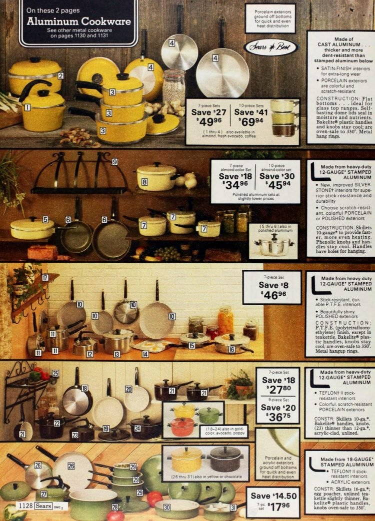Vintage aluminum cookware - pots and pans from the 1970s (2)