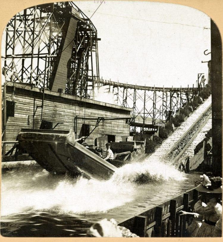 Vintage amusement park - Shooting the rapids, Coney Island, N.Y. c1900