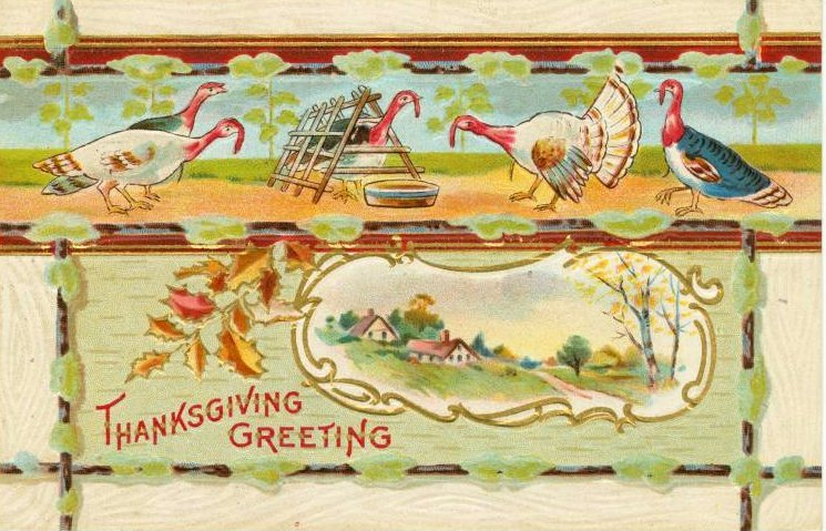 Vintage and antique Thanksgiving postcards from the early 1900s (1)