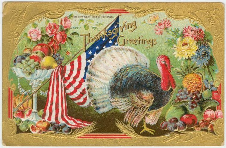 Vintage and antique Thanksgiving postcards from the early 1900s (12)