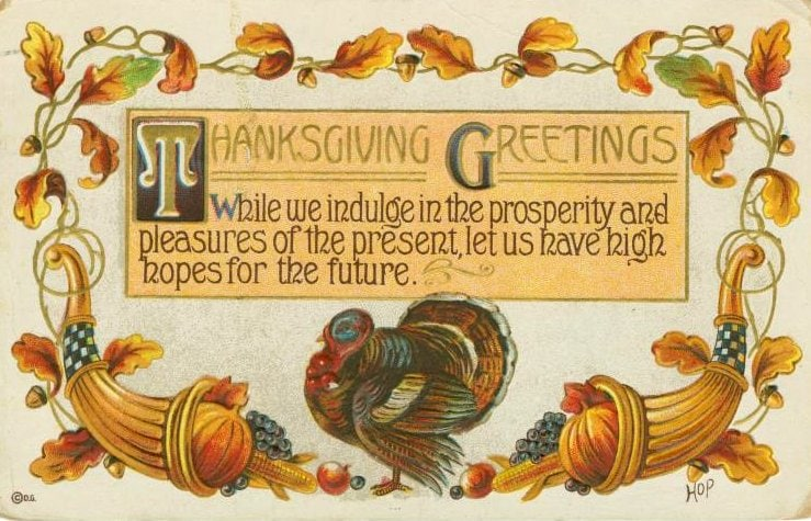 Vintage and antique Thanksgiving postcards from the early 1900s (13)
