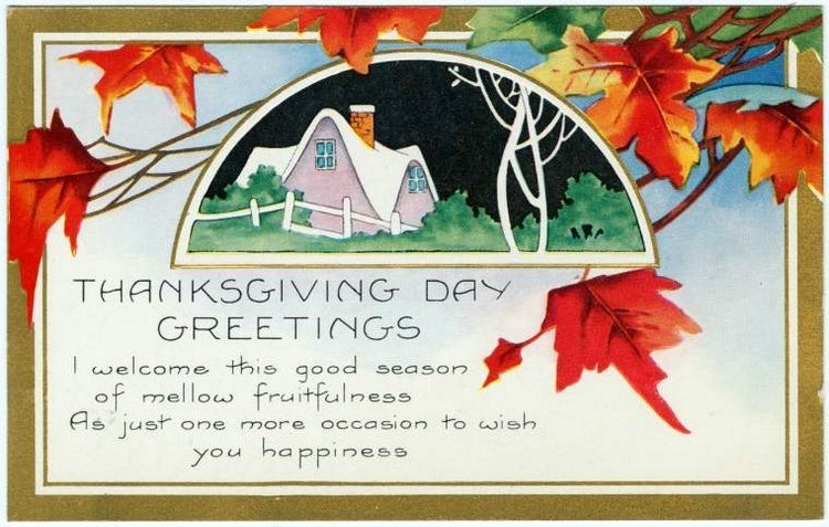 Vintage and antique Thanksgiving postcards from the early 1900s (2)