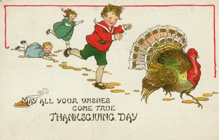 Vintage and antique Thanksgiving postcards from the early 1900s (8)