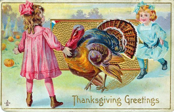Vintage and antique Thanksgiving postcards from the early 1900s (9)