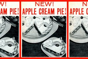 Vintage apple cream pie recipe (1955)