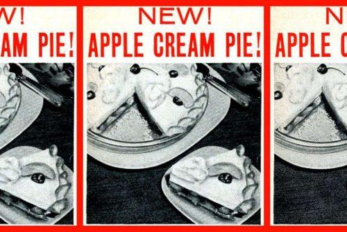 Vintage apple cream pie recipe (1955)