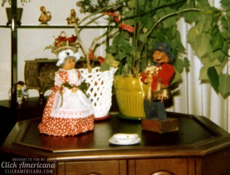 Vintage apple head dolls from the 1970s