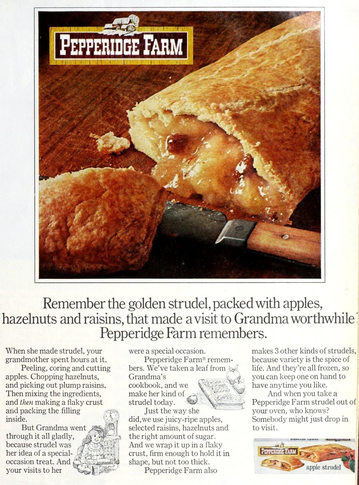 Vintage apple strudel from Pepperidge Farm (1969)