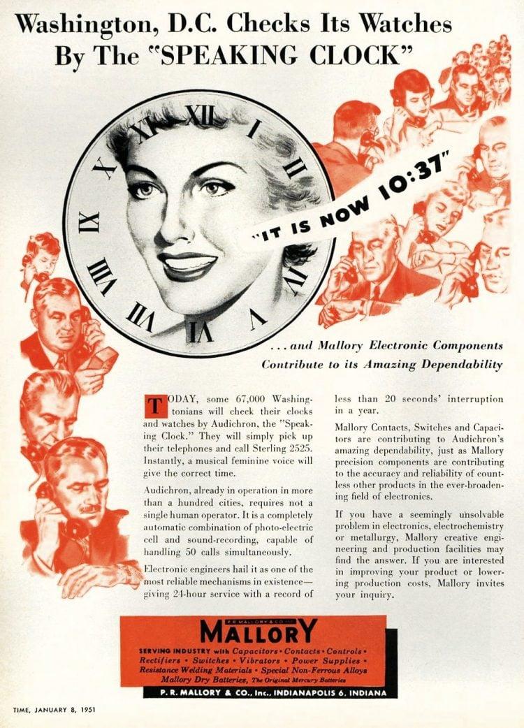 Vintage audichron speaking clock - Phone company