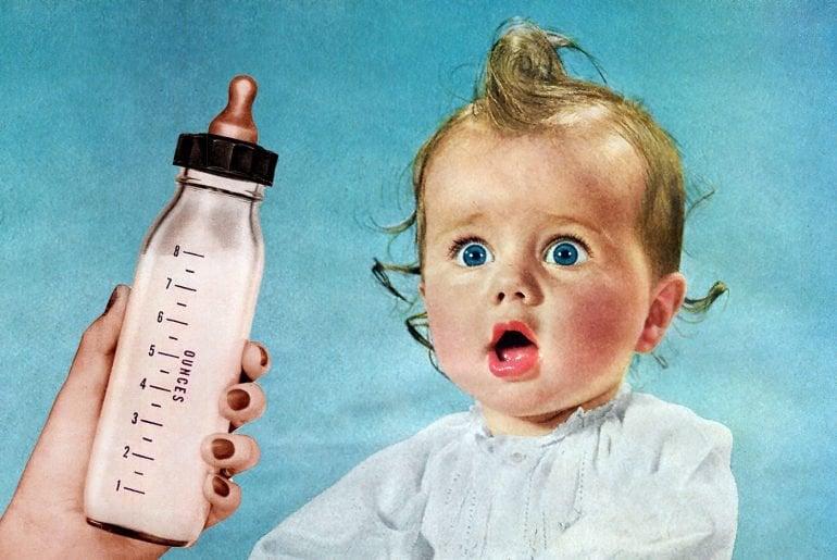 Vintage baby bottles