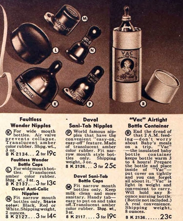 Vintage baby bottles from 1941 (1)