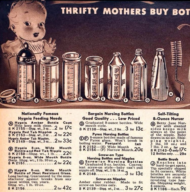 Vintage baby bottles from 1941 (2)