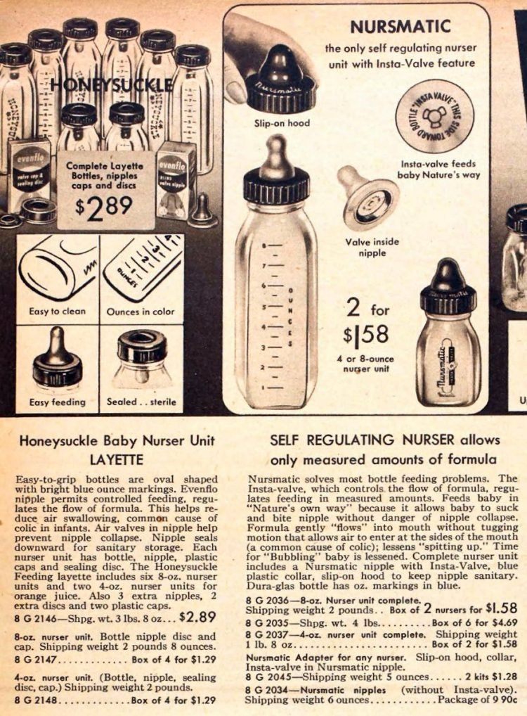 Vintage baby bottles from 1954 (1)