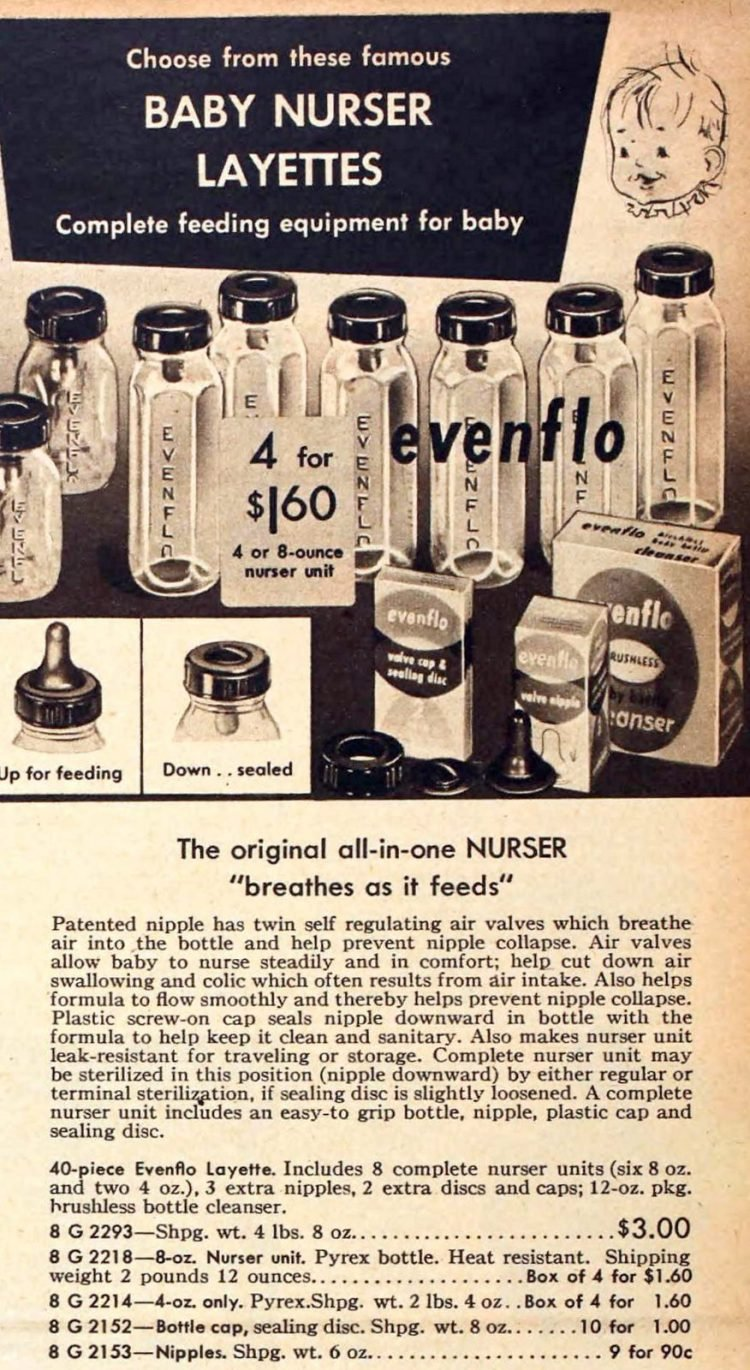 Vintage baby bottles from 1954 (2)