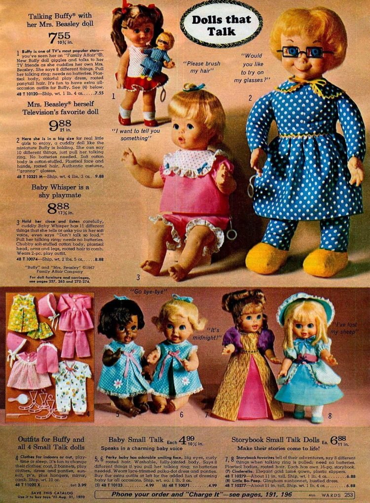 Vintage baby dolls from 1969