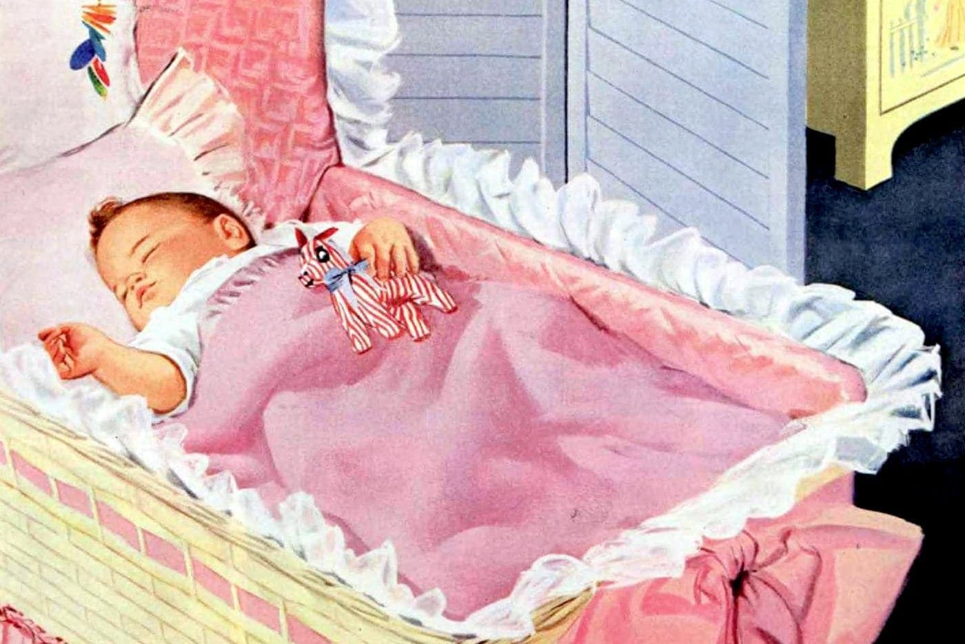 Vintage baby gear from the 1950s