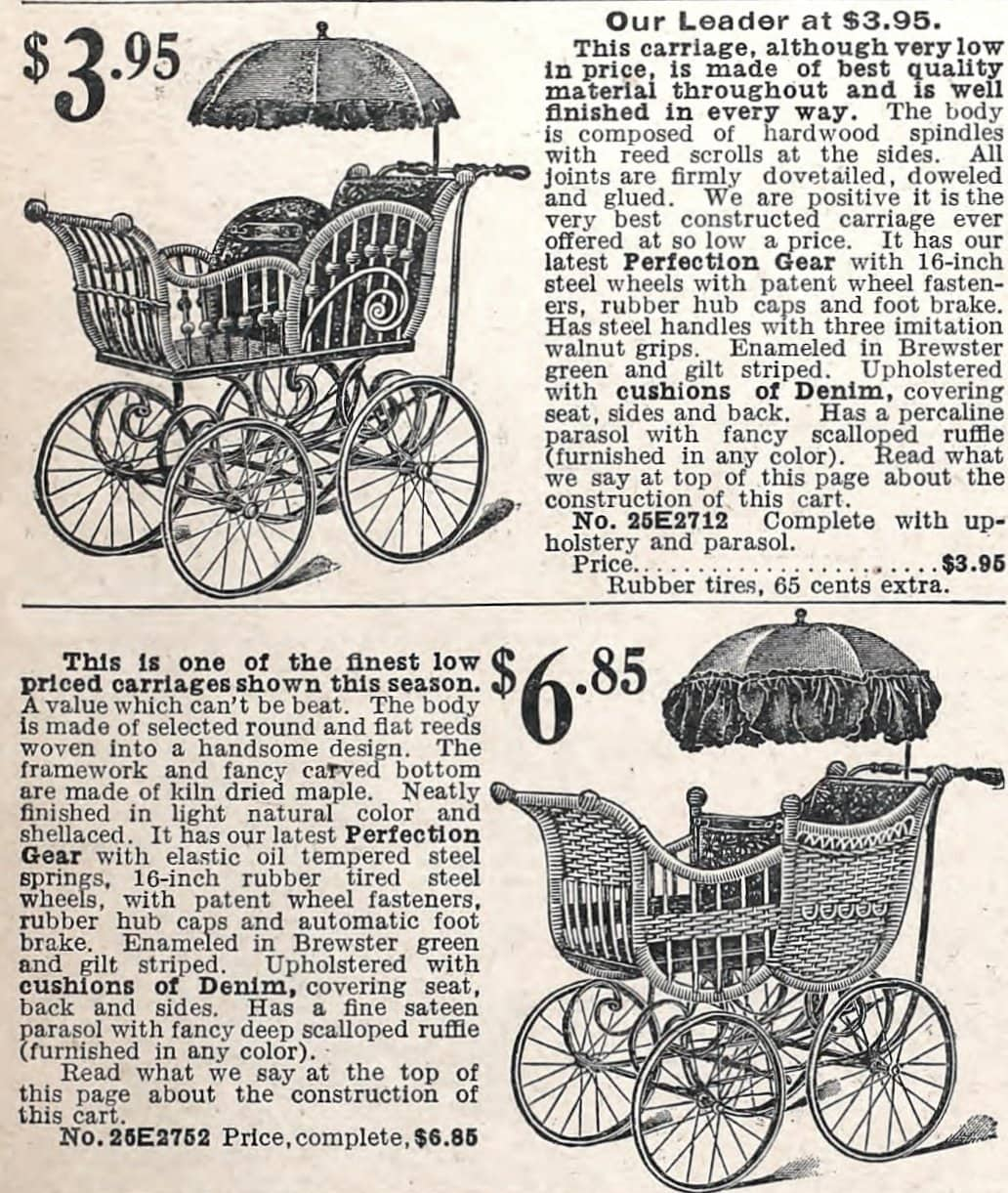 Vintage baby strollers - go-carts - carriages - prams (1905)