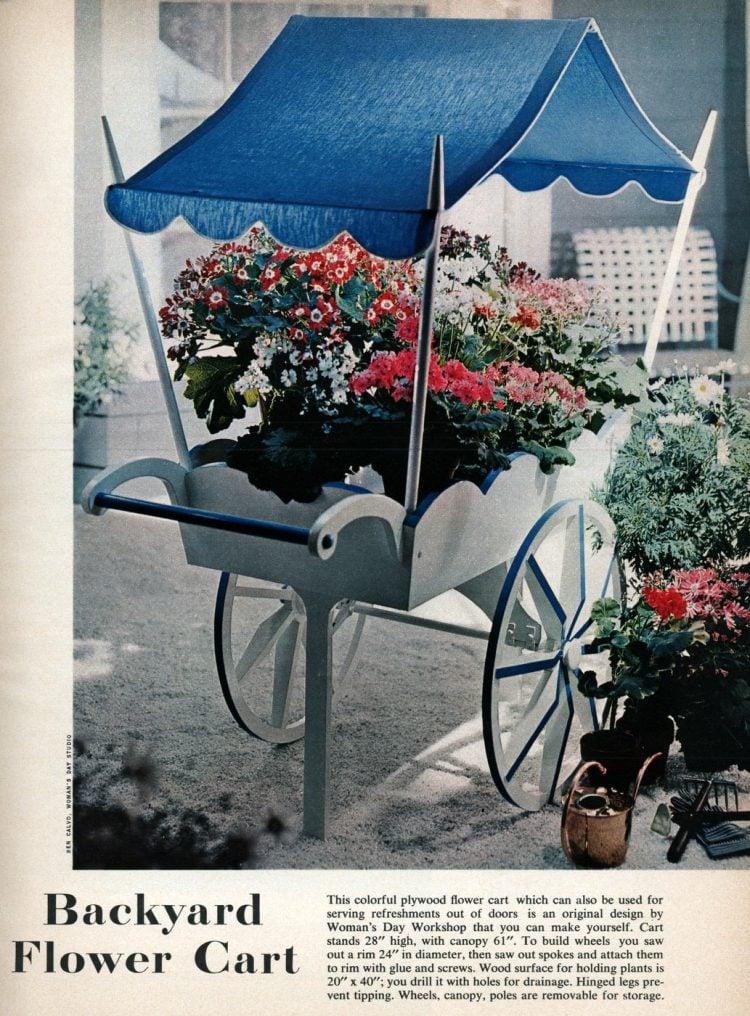 Vintage backyard flower cart from 1958 (2)