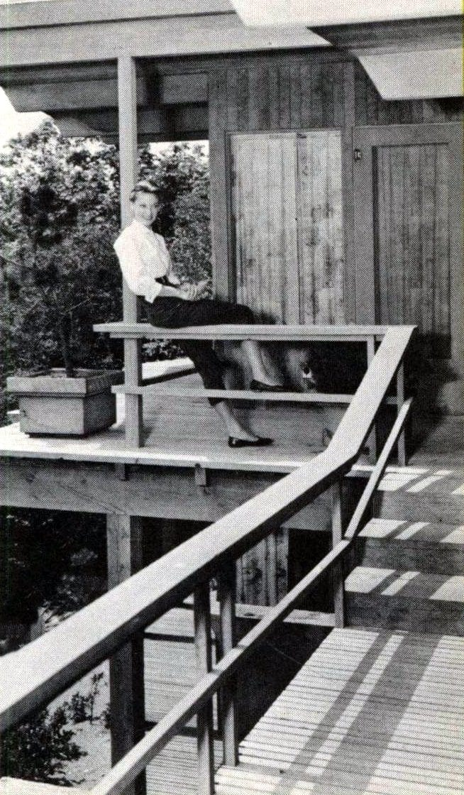 Back yard ideas for deck and railing from 1960