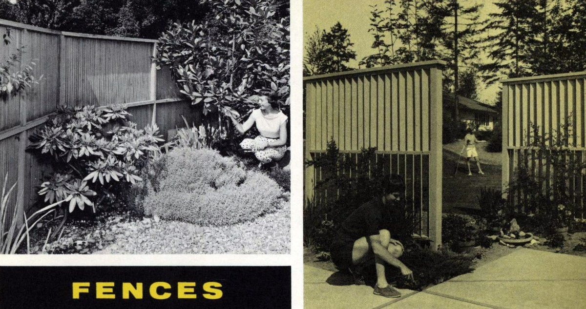 Vintage backyard ideas for fences from 1960