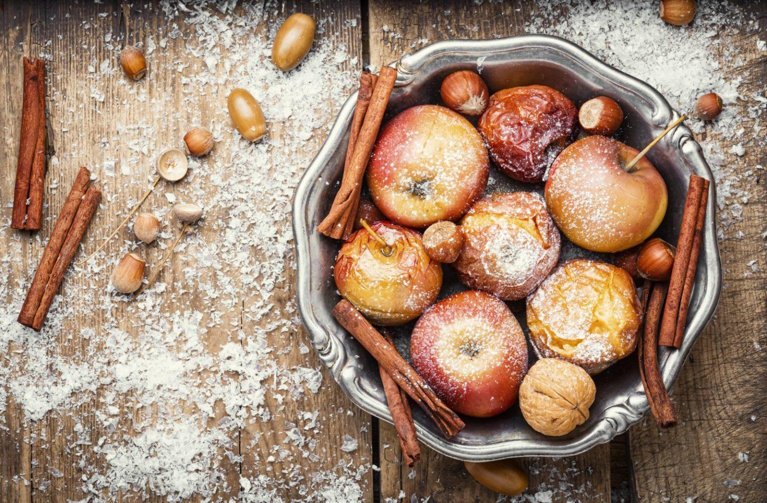 Vintage baked apples