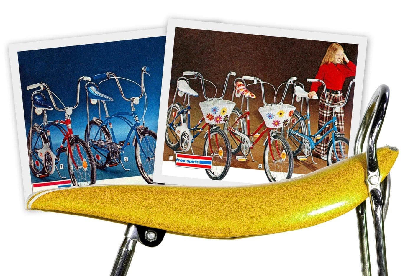 Vintage banana seat bikes for kids from the '60s & '70s