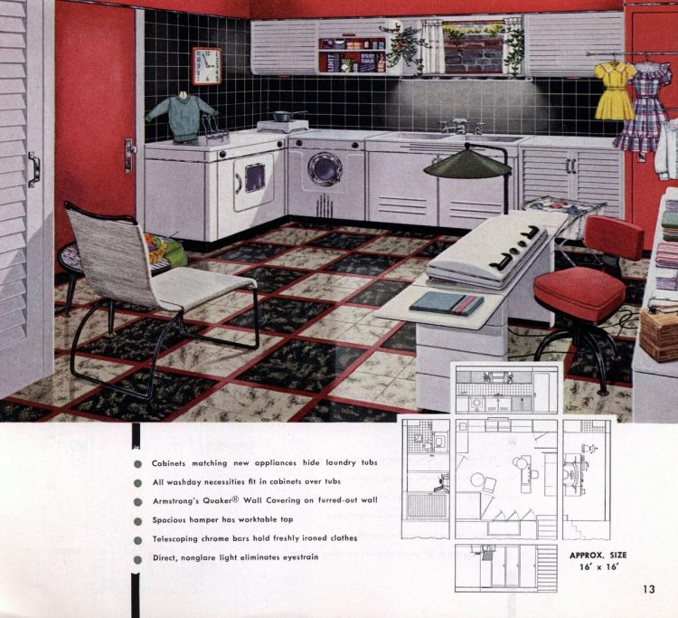 Vintage basement remodel interior decorating from 1950 (11)