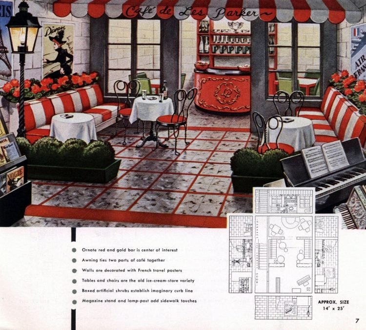 Vintage basement remodel interior decorating from 1950 (5)