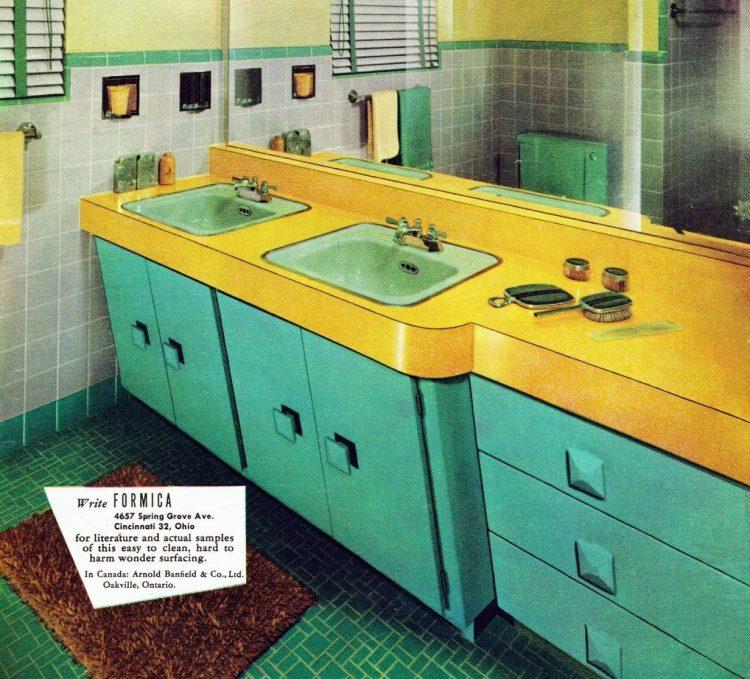 Vintage bathroom 1960s