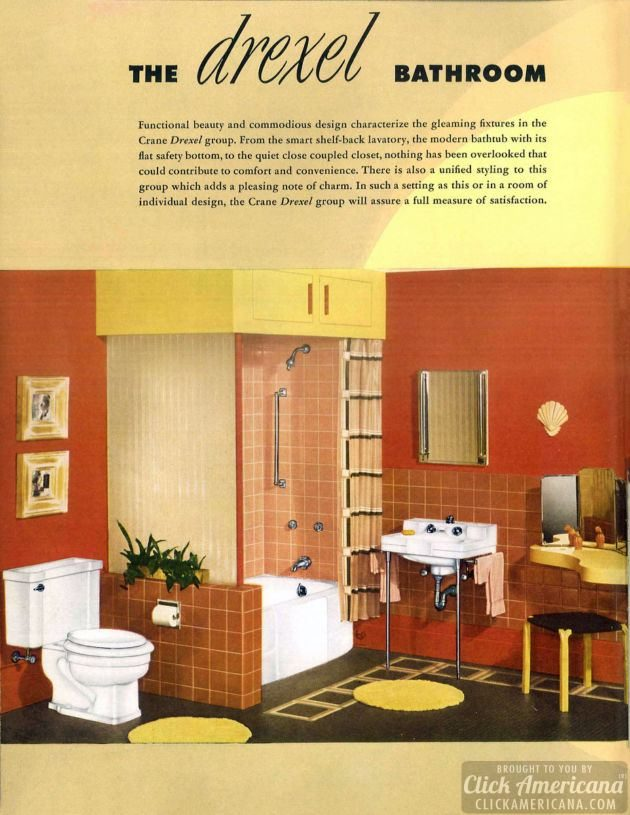 The Drexel mid-century modern bathroom