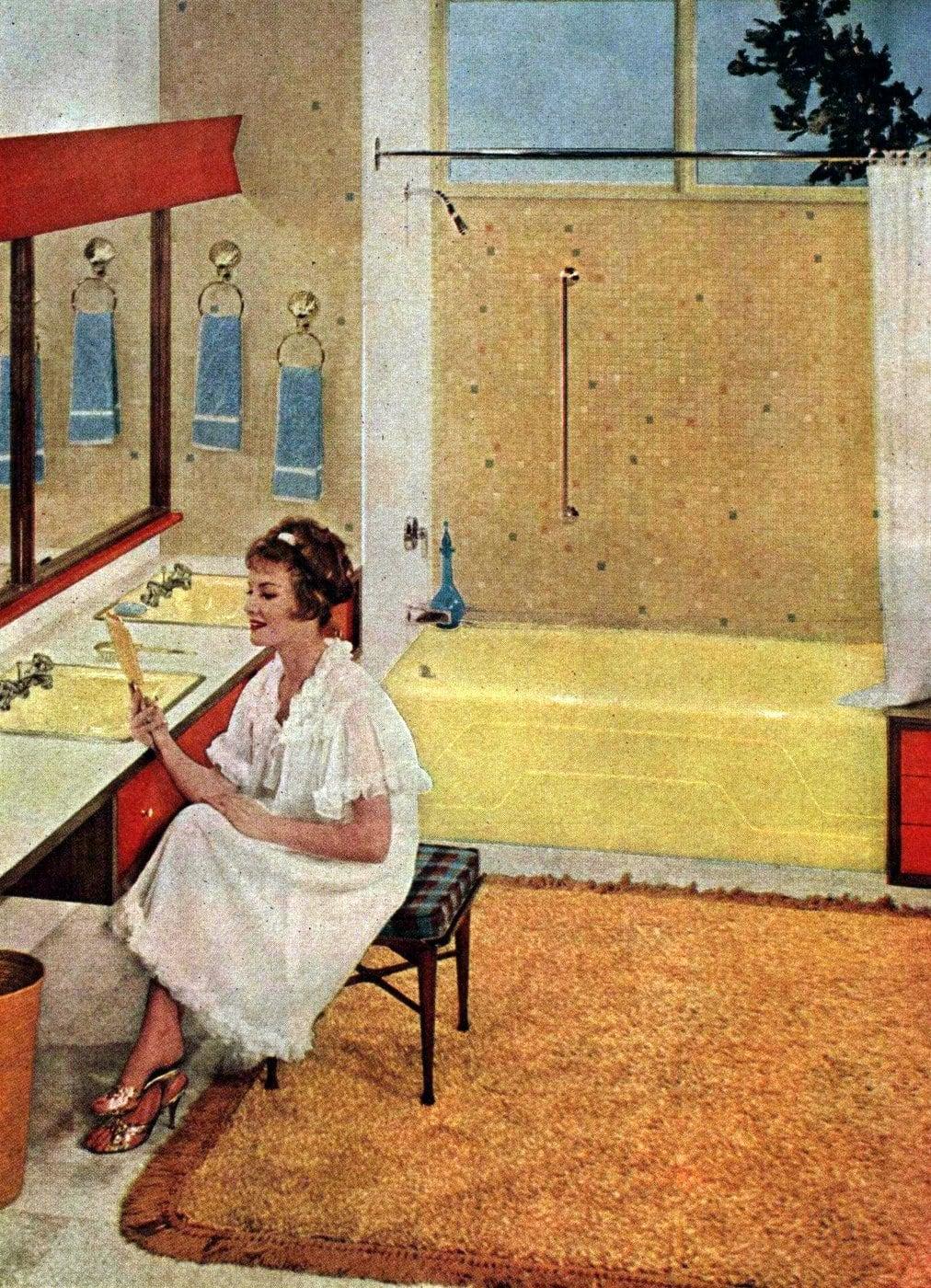 Vintage bathroom decor from 1962 (1)