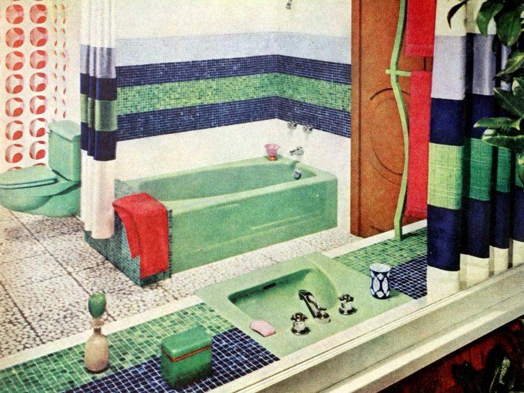Vintage bathroom decorating from 1960 (1)