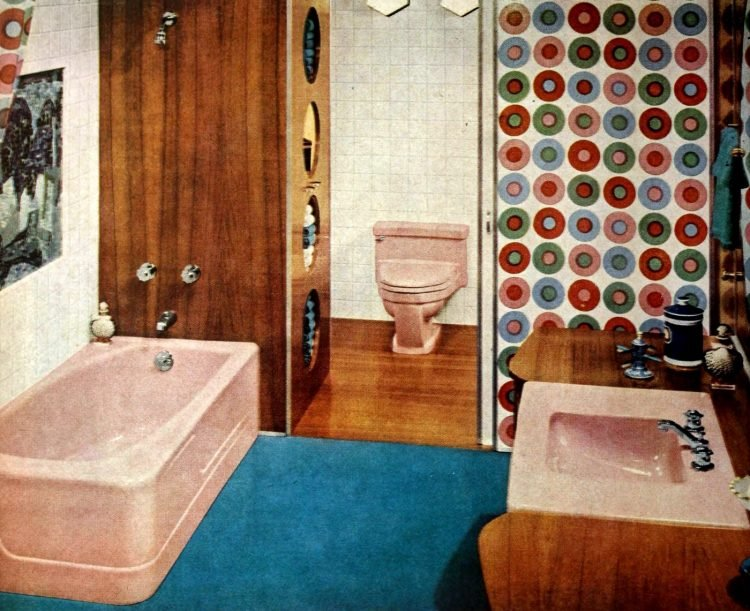 Vintage bathroom decorating from 1960 (2)
