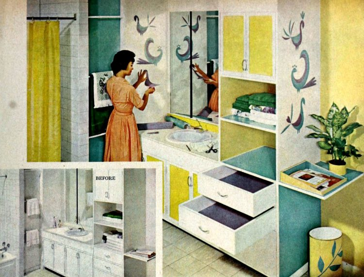 Vintage bathroom decorating from 1960 (4)