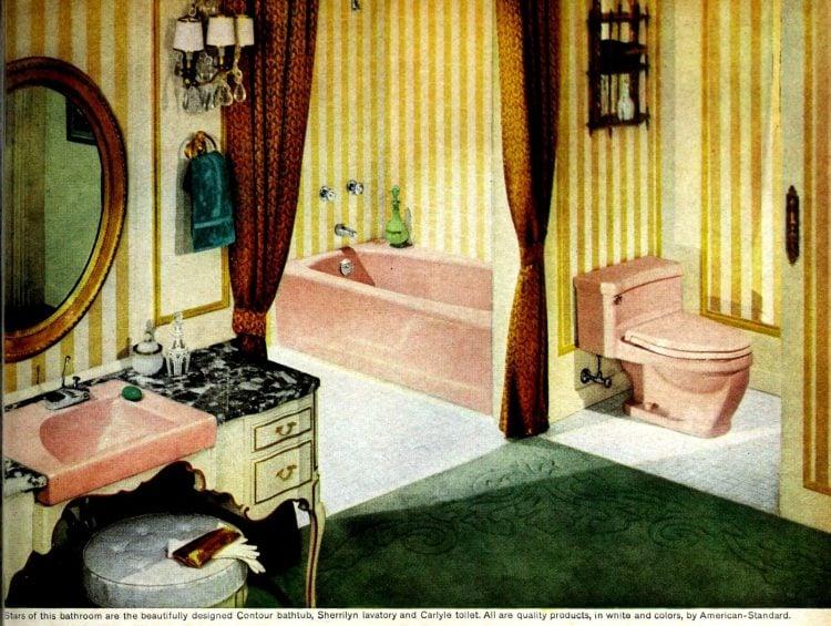 Vintage bathroom decorating from 1960 (5)