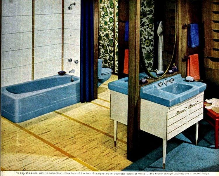 Vintage bathroom decorating from 1960 (6)
