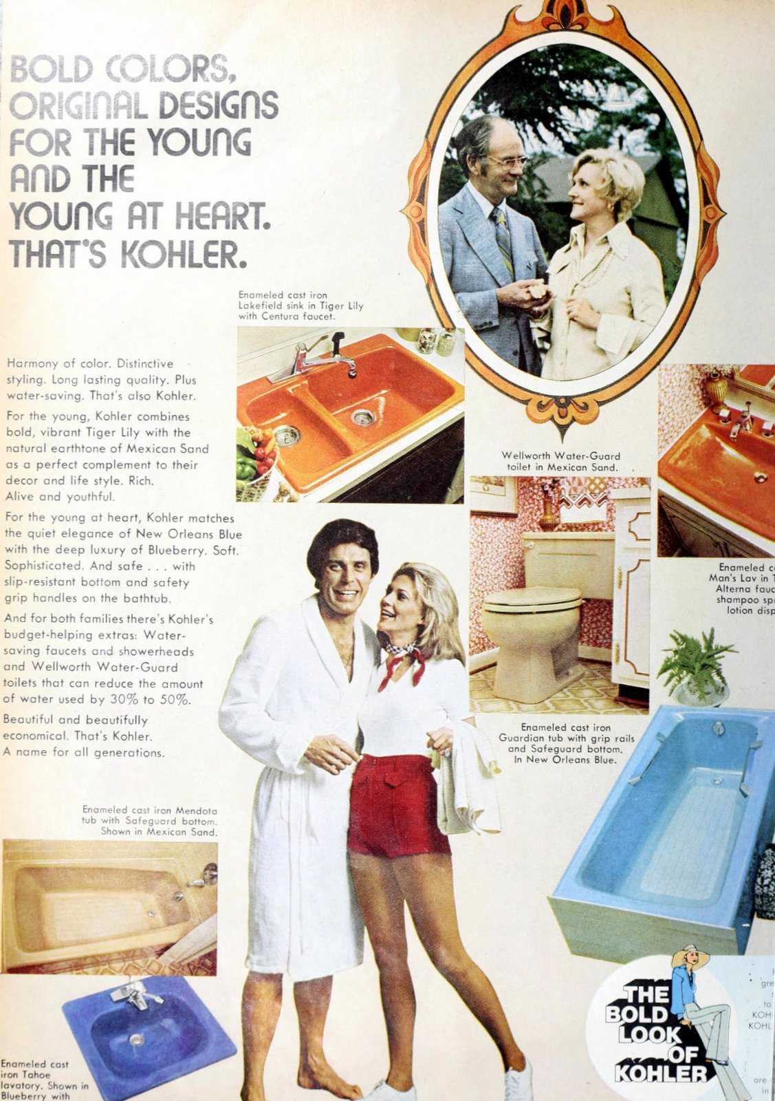 Vintage bathroom fixtures and suites from 1975