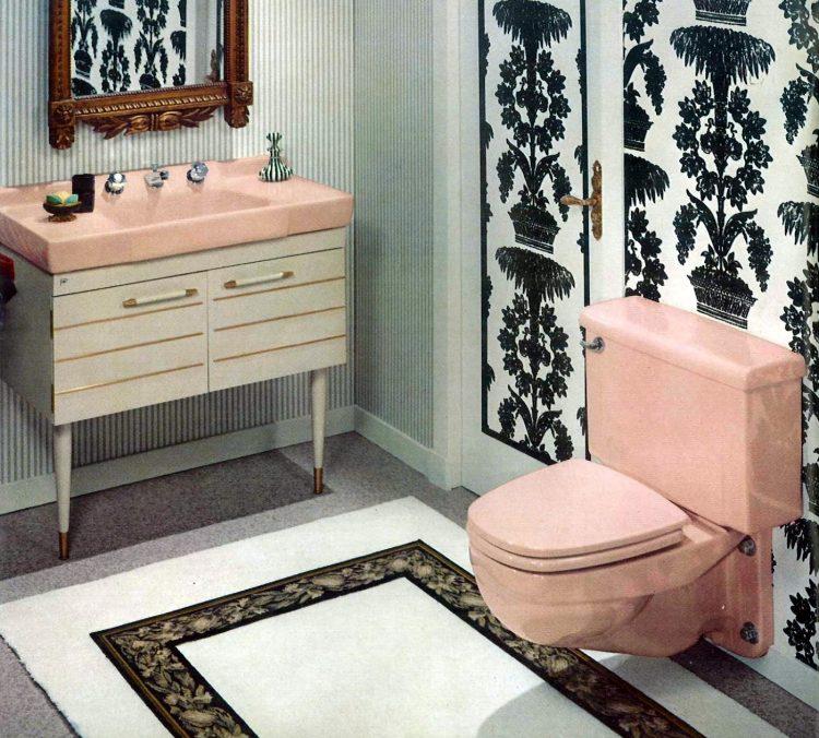Vintage bathroom style ideas from 1962 (2)